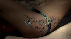 Espectacular tatuaje floral