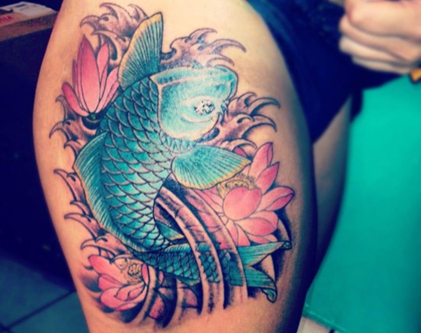 pez koi un tatuaje con significado y leyenda sabes cu l es