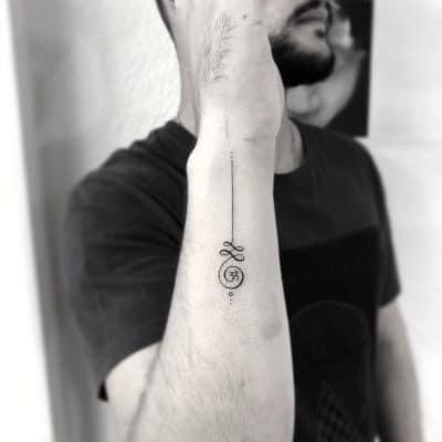 El fin del unalome es en muchos cvasos un símbolo Om
