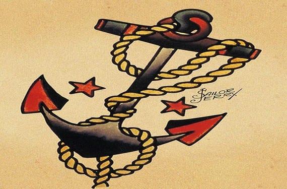 El ancla siempre fue el tatuaje típico de los marineros