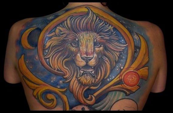 Si eres leo puedes tatuarte un león old school, realista, infantil, zodiacal, color, blanco y negro...