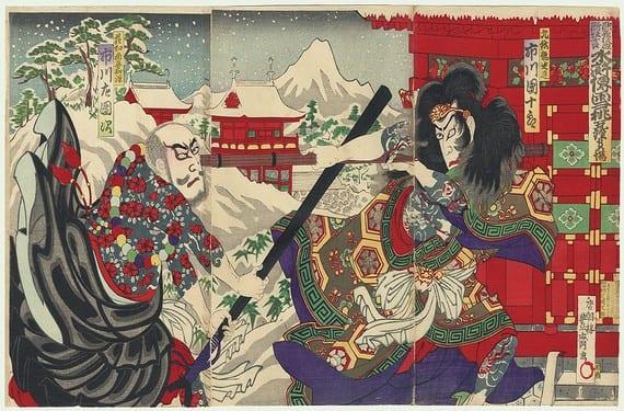 Héroes tatuados del Suikoden por Kunisada III