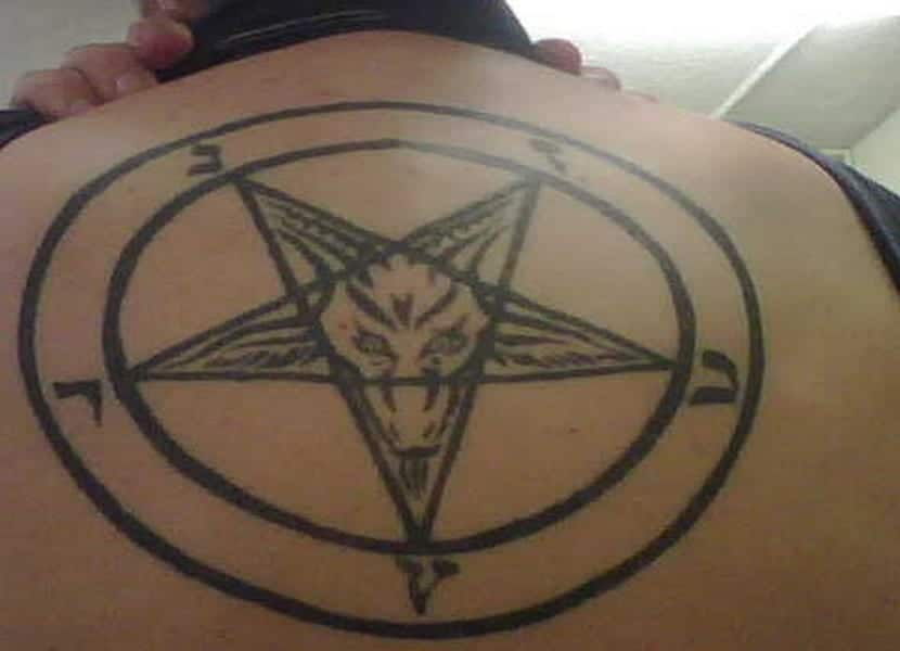 El pentagrama satánico completo