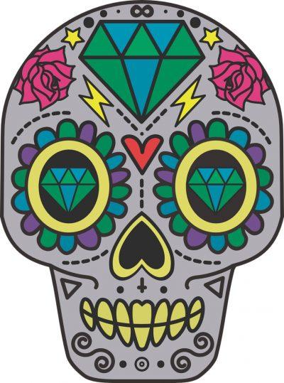 Diseño de calavera para tatuar
