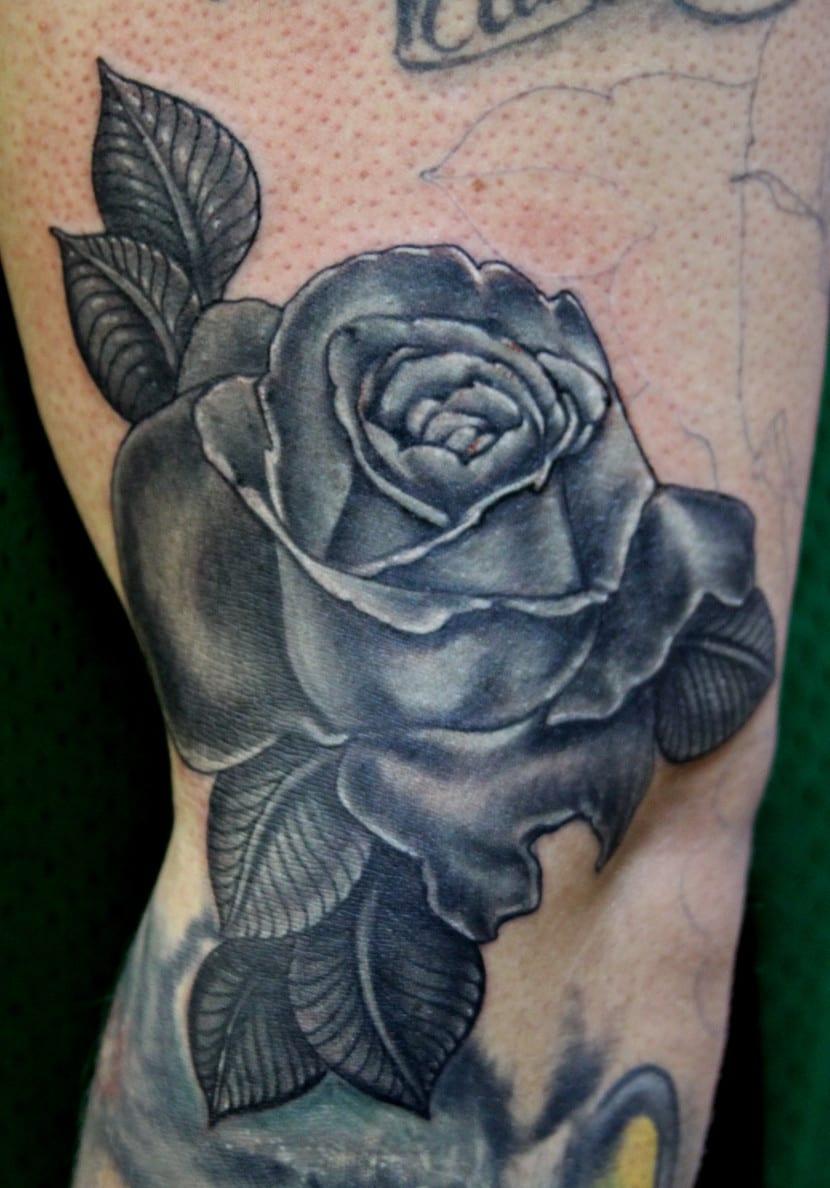 Diseños De Tatuajes De Rosas Negras