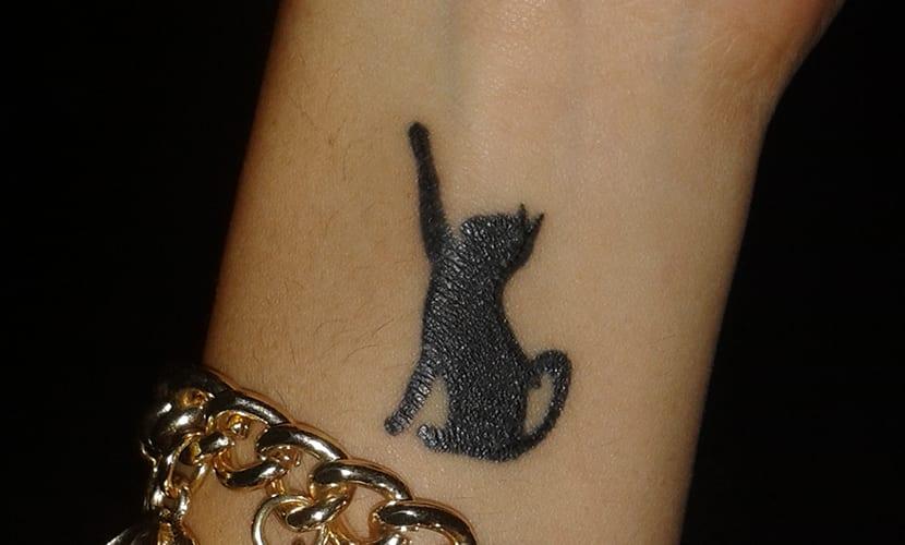 Tatuaje de Gato de Andrea
