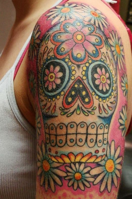 Tatuajes De Calaveras Mexicanas Sugar Skulls