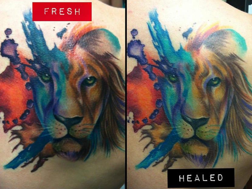 Tatuaje Curado - antes y después