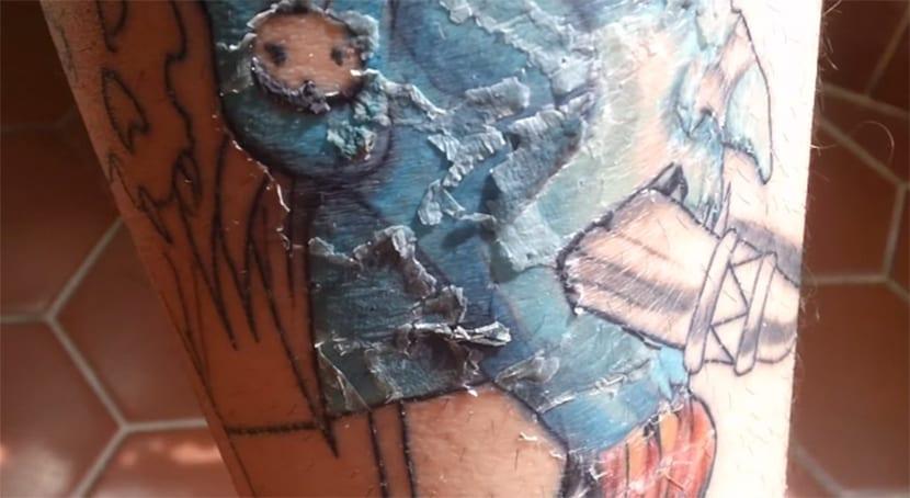 Curación del tatuaje