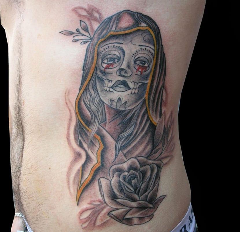 Tatuajes De La Santa Muerte Y Halloween