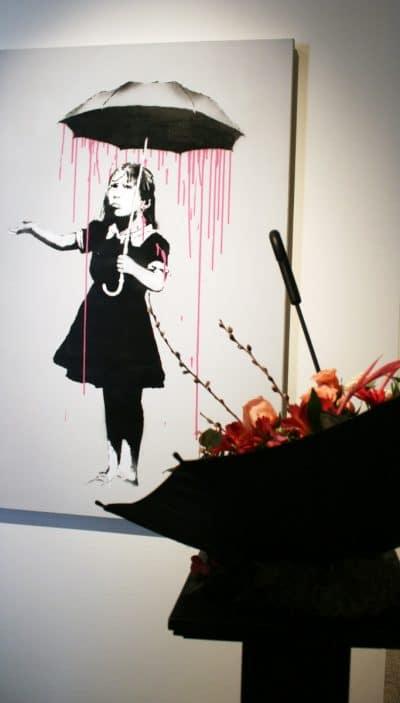 Paraguas de Banksy
