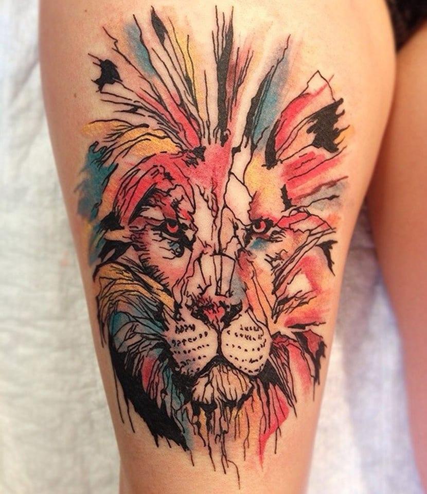 Tatuajes De Leones Símbolo De Fuerza Poder Y Coraje
