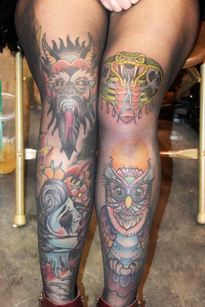 Tatuaje de piernas enteras