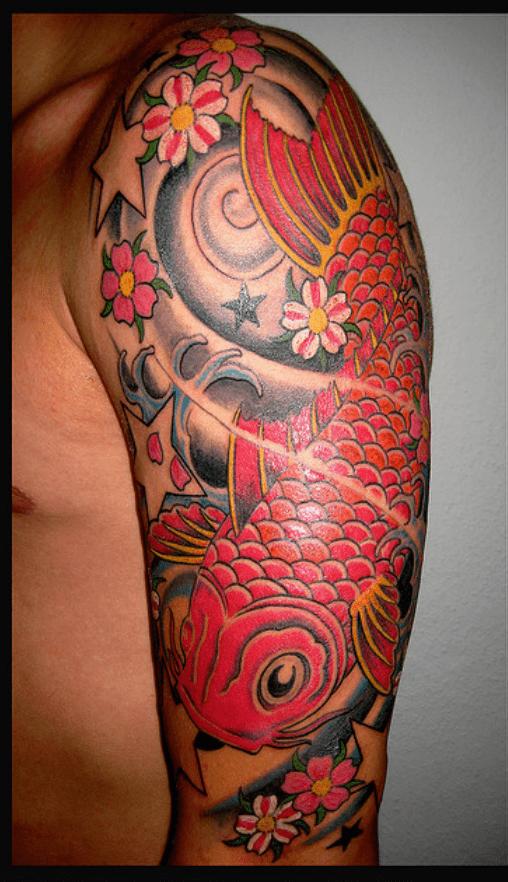Tatuajes del pez koi for Pez koi pequeno