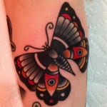 Tatuajes de mariposas old school