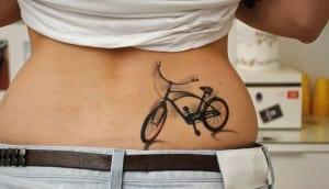 tatuaje de bicicleta