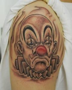 tatuaje de payaso