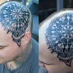 Tatuajes de mandalas en la cabeza