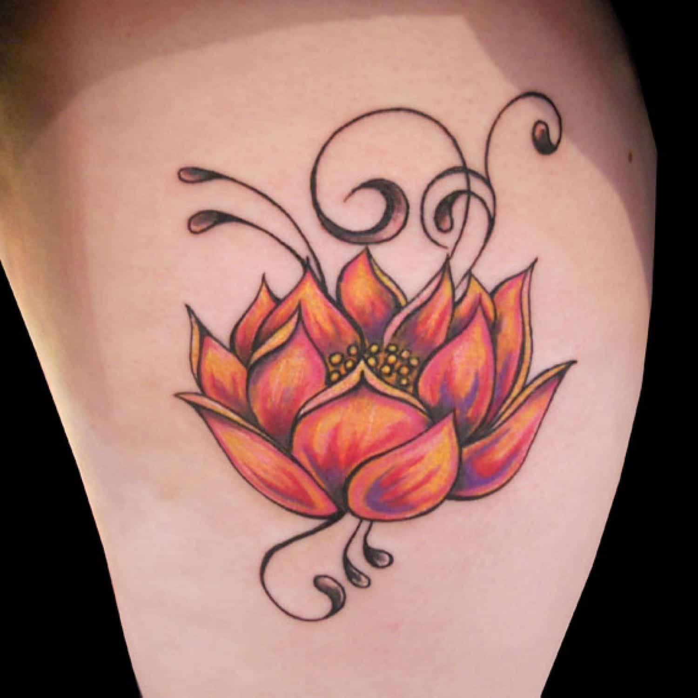 Precisos Diseños De Tatuajes De La Flor De Loto