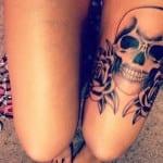 Tatuajes de calaveras para mujeres
