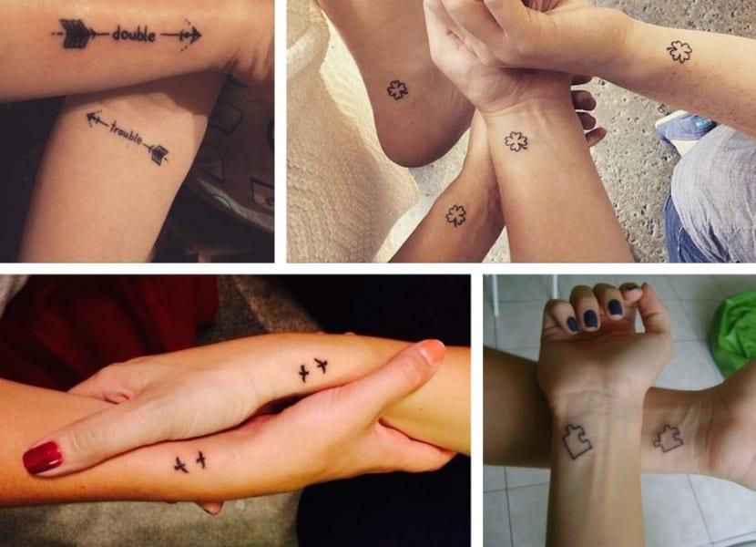 Tatuajes pequeños con símbolo de amistad