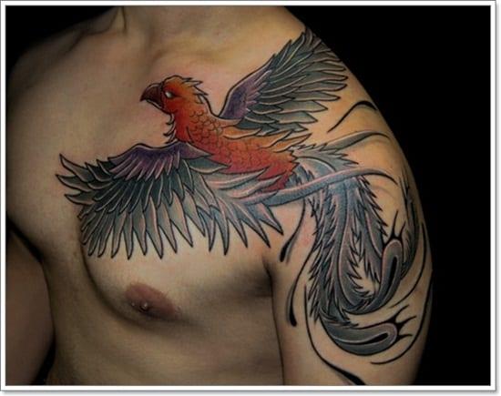 Tatuajes Del Ave Fénix Para Hombres