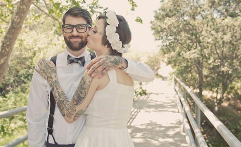 Boda y tatuajes