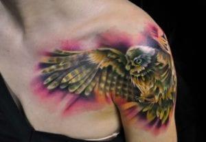 Tatuaje de búhos en mujeres