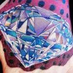 Tatuajes de diamantes a color