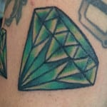 Tatuajes de diamantes a color