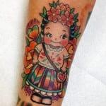 Tatuajes de muñecas kewpie
