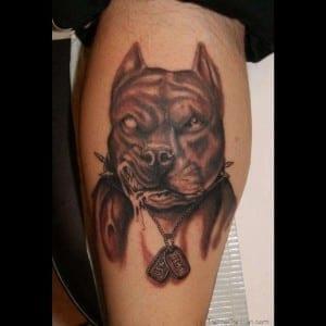 tatuaje de pitbull