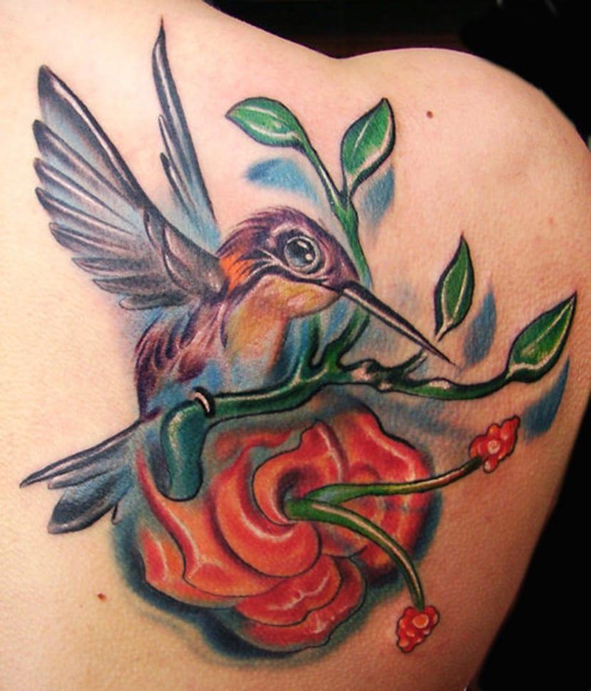 De colibri en la espalda significado tatuaje colibri tatuaje tattoo - Tatuajes De Colibr Es