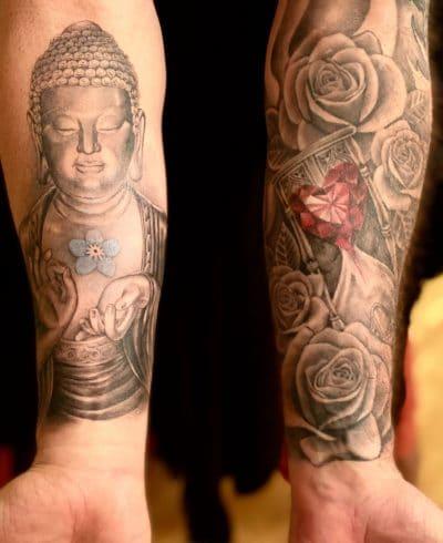 Tatuaje de buda brazo