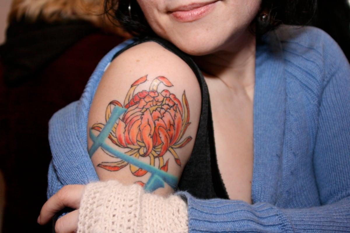 Tatuaje de flor de loto