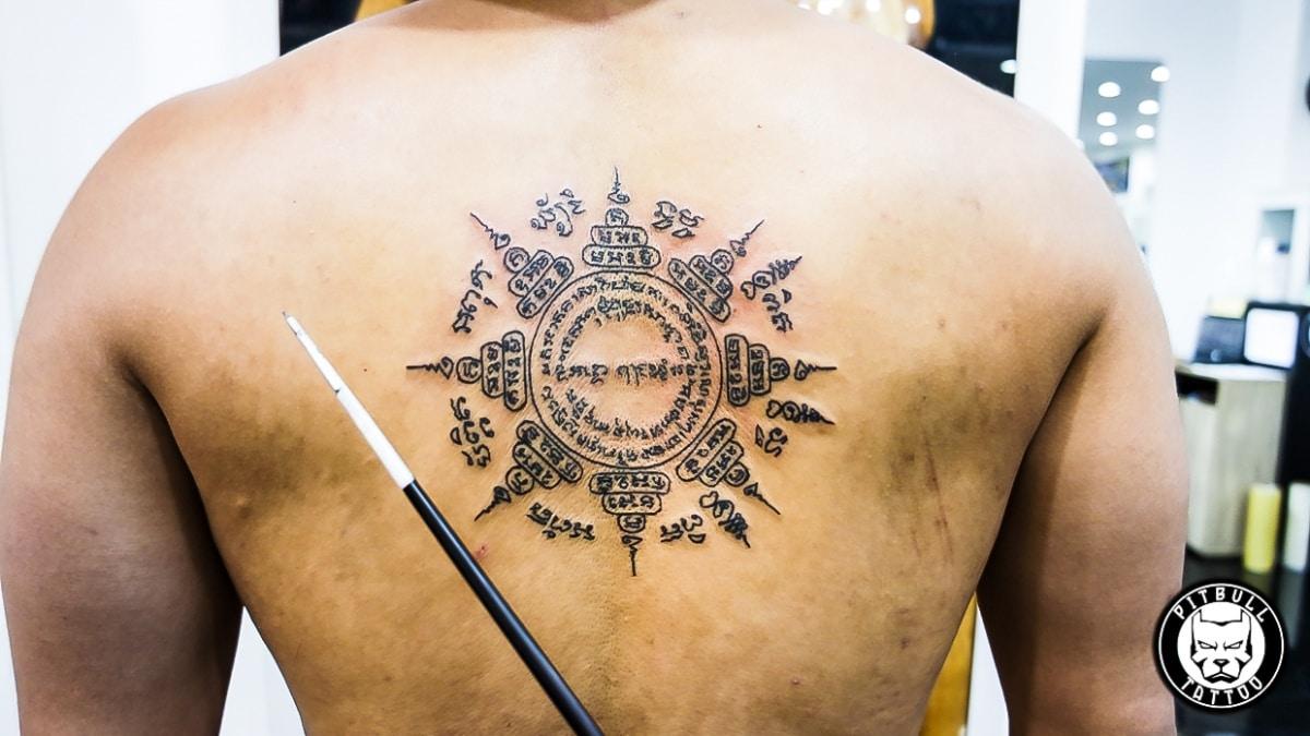 Tatuaje sak yant espalda