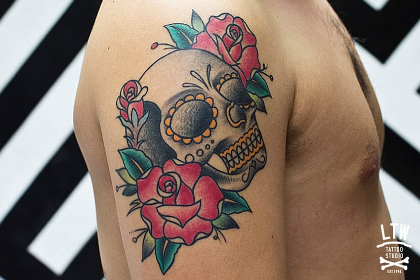Tatuajes de calaveras old school