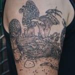 Tatuajes de hongos y setas