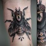 Tatuajes de moscas