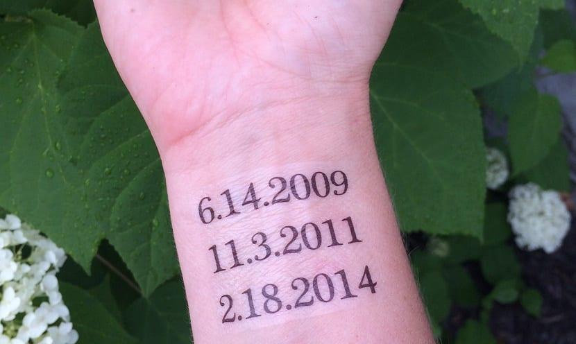 tatuaje de fechas
