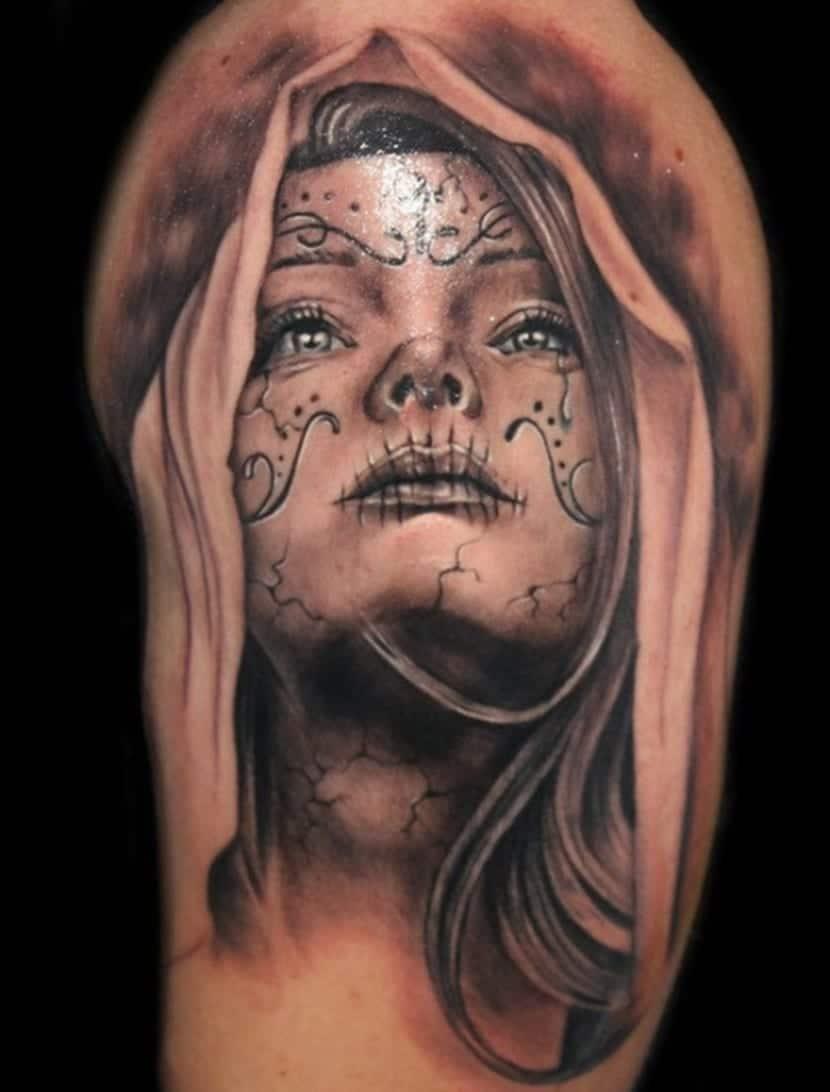tatuajes de catrinas recopilaci n de tattoos de la catrina. Black Bedroom Furniture Sets. Home Design Ideas