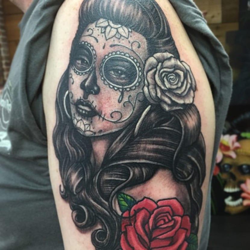 Tatuajes De Catrinas Recopilación De Tattoos De La Catrina