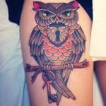 Tatuajes de búhos para mujeres