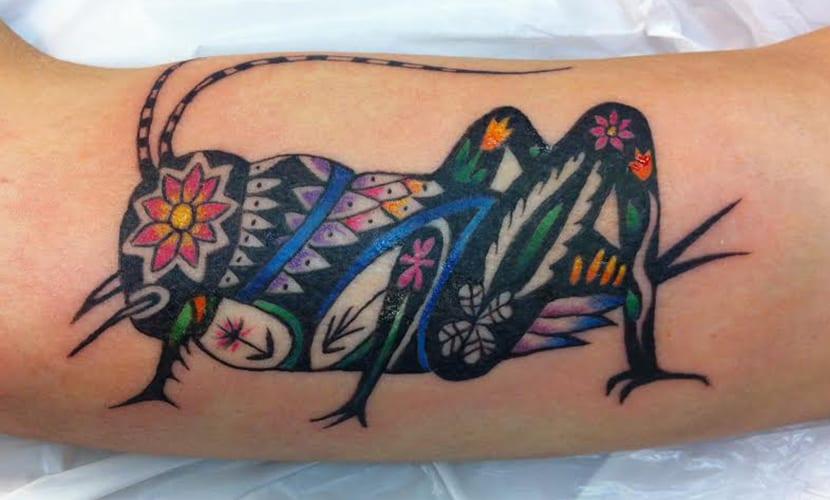 Tatuajes de saltamontes