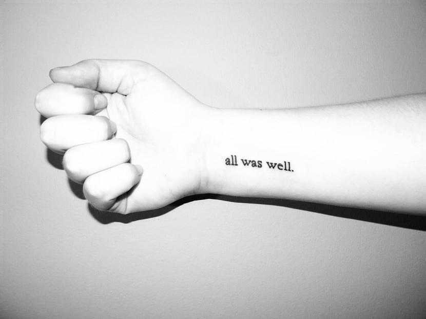 tatuaje pequeno frase