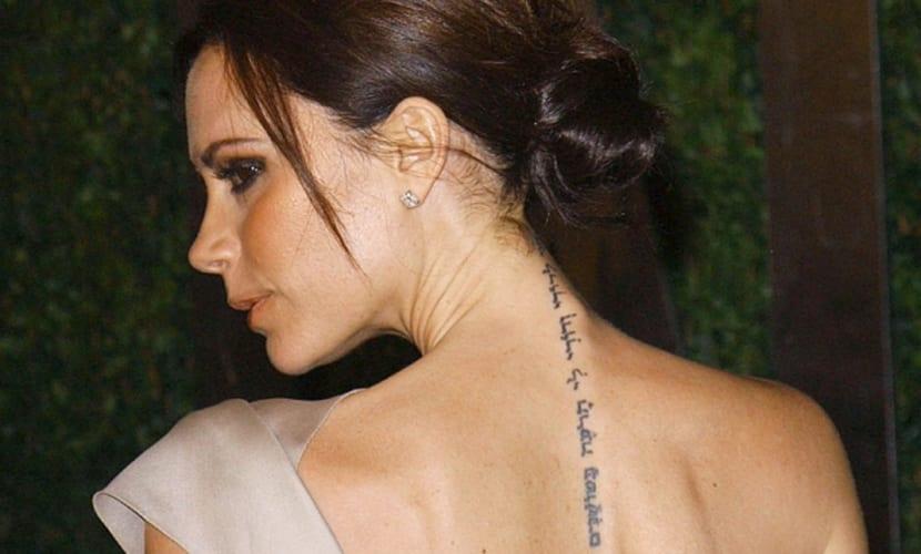 Tatuaje de Victoria Beckham
