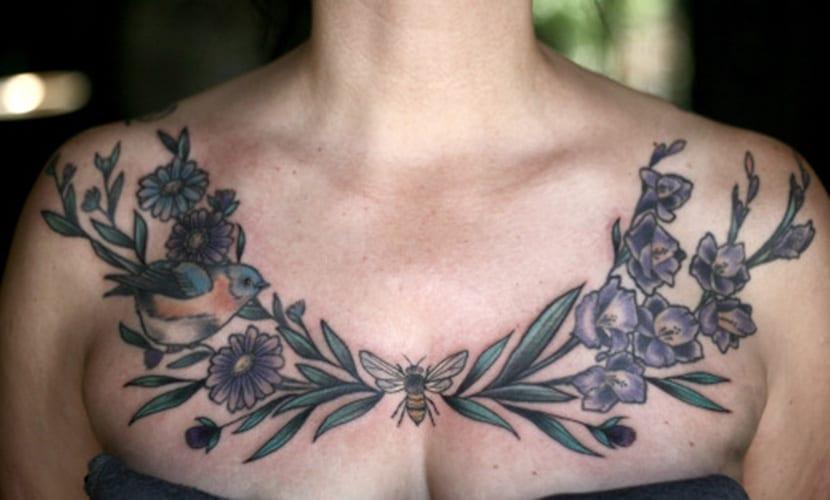 Tatuajes En El Pecho Recopilación Y Claves
