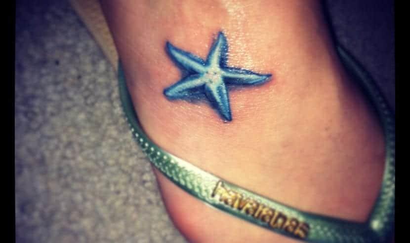 estrella de mar pie