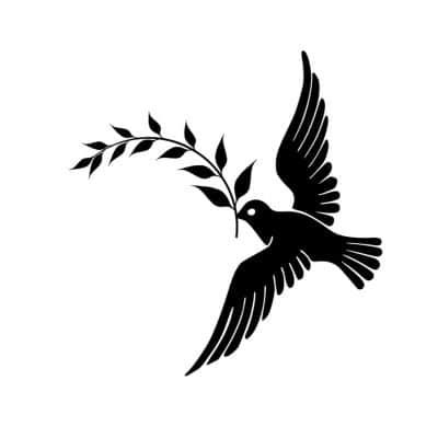 La paloma con la rama de olivo es un símbolo de paz