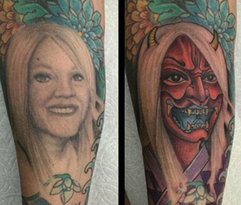 Tatuaje cover-up de una expareja